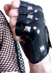 Punk Gloves - Studded Fingerless