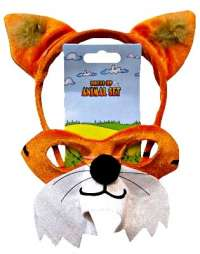 Animal Headband & Mask Set - Fox