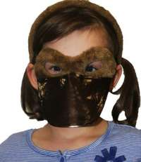 Platypus mask and headband child costume set