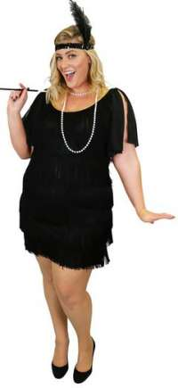 1920s Flapper dress plus size costume