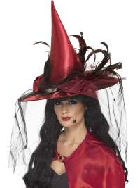Deep Red witch hat