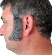 Sideburns - Thick Curved Grey