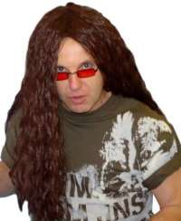 Heavy Metal Rocker (Long Brown) wig
