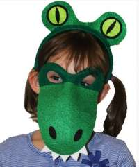 Alligator Mask and head piece child costume set