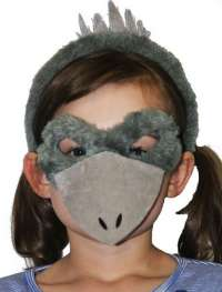 Emu Mask and headband child costume set