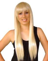 Abba/Paris Long Blonde W/Fringe Wig