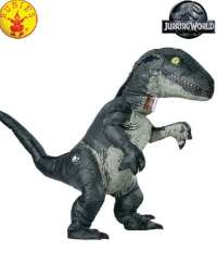 Velociraptor Blue Inflatable Adult costume