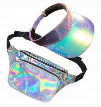 80's Galaxy Bum Bag & Visor Set