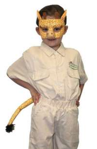 Giraffe Mask and tail child costume set