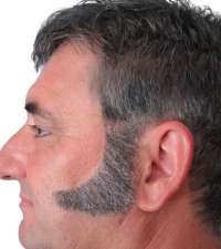 Sideburns - 70'S Curved - Grey