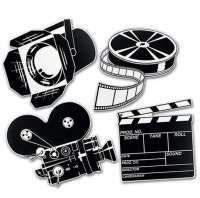 Movie Set Cutouts Black and white dicorations