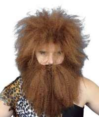 Caveman Wig & Beard Set