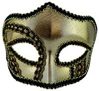 Mens Masquerade Mask Gold
