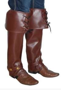 Pirate boot covers-brown