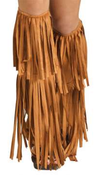 Hippie Suede Fringe Boot Covers - Adult