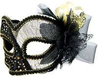 Masquerade Mask Black w/Tulle