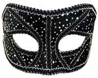 Masquerade Mask Black & Sliver Sequins