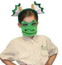 Dragon Mask and headband child costume set