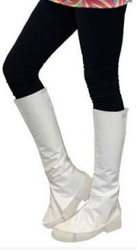 Knee High Boot Tops - White