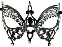 Metal Mask Black Butterfly 2