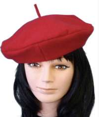 Hat- Red French Beret