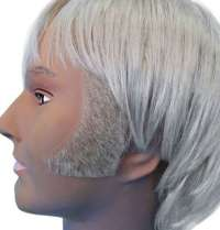 Sideburns - Thick Curved Blonde