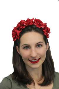 Deluxe Rose Headband - Day Of The Dead