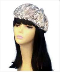 Disco Beret - Silver Sequin