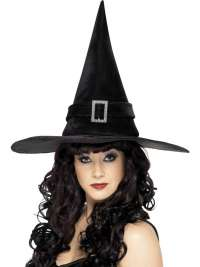 Witch Hat With Diamonte Buckle