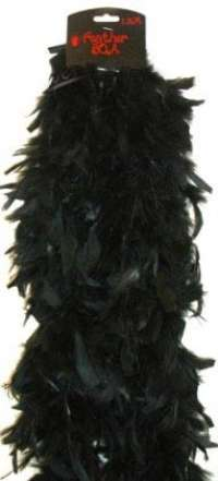 Deluxe Plush Turkey Boa 1.8m - BLACK