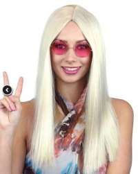 Blonde Hippie Girl Deluxe wig