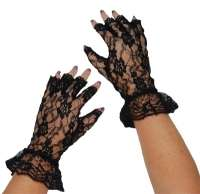 Short Lace Fingerless Gloves