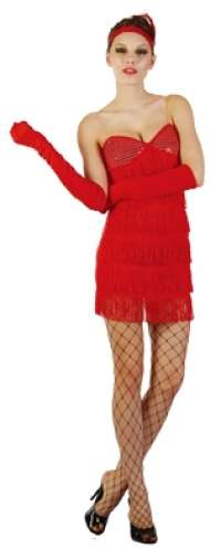 Sequin Red Flapper Girl