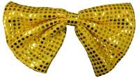 Sequin Clown Bow Tie - Gold