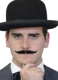 'Poirot' Black Moustache