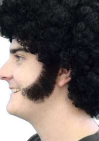Sideburns - Thick Curved - Black