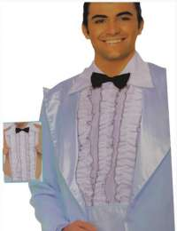 Ruffle shirt front mens costume